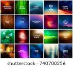 big set of 20 square dark...   Shutterstock .eps vector #740700256
