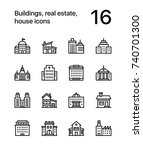 buildings  real estate  house... | Shutterstock .eps vector #740701300