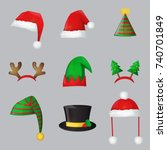 christmas festive collection of ... | Shutterstock .eps vector #740701849