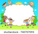 kids banner template horizontal ... | Shutterstock . vector #740707093