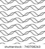 tileable endless wavelike... | Shutterstock .eps vector #740708263