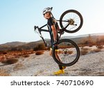 young triathlon competitor... | Shutterstock . vector #740710690
