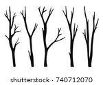 twigs from the tree are dry... | Shutterstock .eps vector #740712070