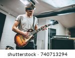 repetition of rock music band....   Shutterstock . vector #740713294