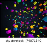 Fly Colorful 3d Cubes Vector...