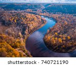 aerial view of colorful forest... | Shutterstock . vector #740721190