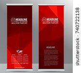 roll up business brochure flyer ...   Shutterstock .eps vector #740722138