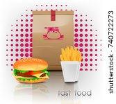 fast food menu | Shutterstock .eps vector #740722273