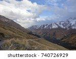 mountain landscape. a beautiful ... | Shutterstock . vector #740726929