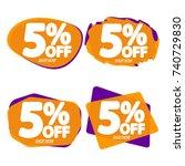 set sale speech bubble banners  ... | Shutterstock .eps vector #740729830