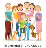 illustration of family   7... | Shutterstock .eps vector #740730139