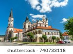 old town hall and st. james...   Shutterstock . vector #740733118