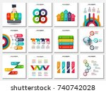 big collection of vector arrows ... | Shutterstock .eps vector #740742028