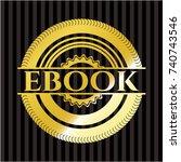 ebook shiny badge | Shutterstock .eps vector #740743546