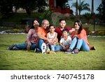 portrait of happy indian asian... | Shutterstock . vector #740745178