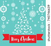 template christmas card  for... | Shutterstock .eps vector #740746639