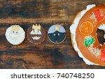typical dessert eaten in spain... | Shutterstock . vector #740748250