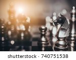 chess board game for ideas and...   Shutterstock . vector #740751538
