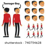 character is a teenager. the...   Shutterstock .eps vector #740754628