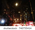 traffic jam in bangkok  the... | Shutterstock . vector #740755414