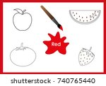 learn the colors  kids are...   Shutterstock .eps vector #740765440