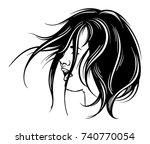 vector hand drawn illustration... | Shutterstock .eps vector #740770054