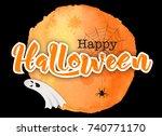 happy halloween background ... | Shutterstock .eps vector #740771170