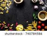 ingredients for cooking paste... | Shutterstock . vector #740784586