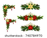 christmas elements for your... | Shutterstock .eps vector #740784970