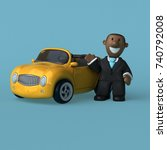 cartoon businessman   3d... | Shutterstock . vector #740792008