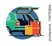 vector flat design element on... | Shutterstock .eps vector #740792866