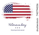 veterans day banner layout... | Shutterstock .eps vector #740794036