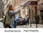 augmented reality in marketing. ... | Shutterstock . vector #740794093