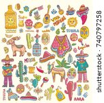 mexico illustrations collection ... | Shutterstock .eps vector #740797258