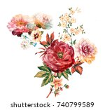 Stock photo flowers are full of romance the leaves and flowers art design 740799589