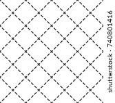cross dotted checkered plaid... | Shutterstock .eps vector #740801416