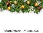 christmas decoration | Shutterstock . vector #740803468
