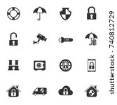 security vector icons for your... | Shutterstock .eps vector #740812729