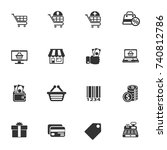 shopping vector icons for your... | Shutterstock .eps vector #740812786
