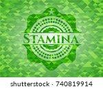 stamina green emblem with... | Shutterstock .eps vector #740819914