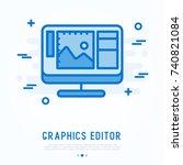 graphics editor thin line icon. ...