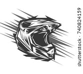 helmet motocross  motocross... | Shutterstock .eps vector #740824159