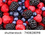 fruit mix | Shutterstock . vector #740828098