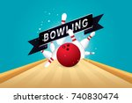 vector of red bowling ball...   Shutterstock .eps vector #740830474