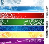 Winter banners  with space for your text - stock vector