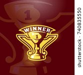 winner prize cup emblem. vector ...   Shutterstock .eps vector #740835550