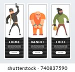 crime  bandit  thief  criminal... | Shutterstock .eps vector #740837590