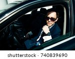young cut businessman wearing... | Shutterstock . vector #740839690