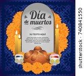 d a de muertos  day of the dead ... | Shutterstock .eps vector #740841550
