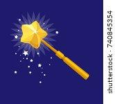 vector magic wand | Shutterstock .eps vector #740845354